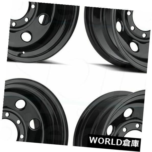 車用品 バイク用品 >> タイヤ ホイール 海外輸入ホイール 信憑 17x9 Vision HD 85 Soft 4 5x5 Set -12ブラックホイールリムセット Black -12 評価 Wheels 8 5x127 Rims