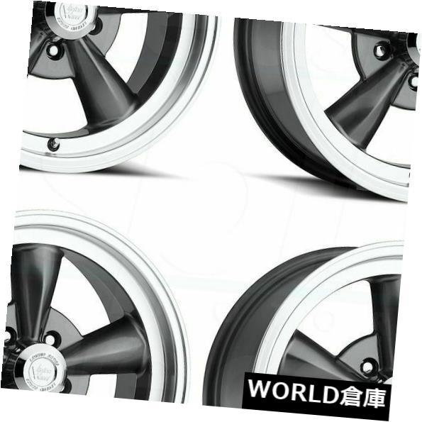 車用品 バイク用品 >> タイヤ 人気上昇中 ホイール 海外輸入ホイール 15x8 交換無料 Vision 141 Legend Rims 5x5.5 Gunmetal Set 5x139.7 4 Wheels 0 5