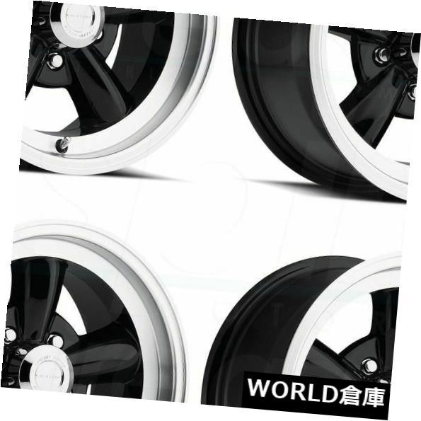車用品 バイク用品 >> タイヤ ホイール 海外輸入ホイール 15x8 Vision 141 送料無料限定セール中 Legend 5 Lip Black Rims 国内正規品 Set 4 0 0ブラックマシンドリップホイールリムセット Machined Wheels 5x114.3
