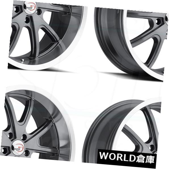 車用品 バイク用品 >> タイヤ ホイール 海外輸入ホイール 15x8 Vision 143トルク5x5 直営店 5x127 4 Torque Gunmetal 送料無料カード決済可能 0ガンメタルホイールリムセット Rims Set Wheels 5x5 143 0
