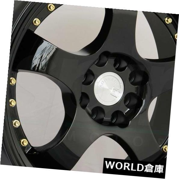 車用品 バイク用品 >> タイヤ ホイール 海外輸入ホイール 16x8 Aodhan AH03 公式ショップ AH3 4x100 15ブラックホイールリムセット Set 15 4x114.3 Black Rims セール開催中最短即日発送 Wheels 4
