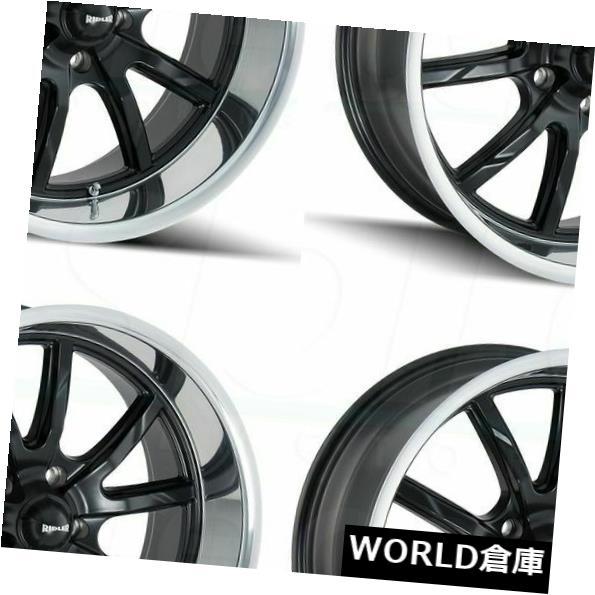 車用品 バイク用品 >> タイヤ ホイール 海外輸入ホイール 15x7 15x8 Ridler 650 5x114.3 4 0 新作 人気 Set Polished Wheels 0マットブラックポリッシュリップホイールリムセット WEB限定 Rims Matte Black Lip