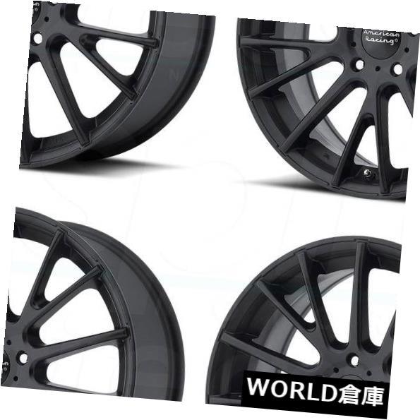 車用品 バイク用品 5%OFF >> タイヤ ホイール 海外輸入ホイール 16x7 American Racing AR904 Black Set Satin 40サテンブラックホイールリムセット 5x115 40 Rims 信託 Wheels 4