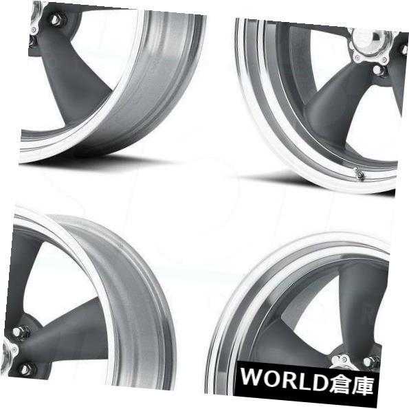 車用品 バイク用品 >> クリアランスsale!期間限定! タイヤ ホイール 海外輸入ホイール 15x4 VN215 Classic Torq Thrust Wheels 5x120.65 5x120.6 Lip 5x4.75 5-25ガンメタルリップホイールセット ついに入荷 -25 1 Gunmetal Pc Set
