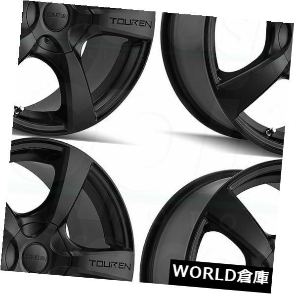 予約販売品 車用品 バイク用品 >> タイヤ ホイール 海外輸入ホイール 16x7 Touren TR9 5x110 Set 42 42マットブラックホイールリムセット Wheels 5x115 4 希少 Black Rims Matte