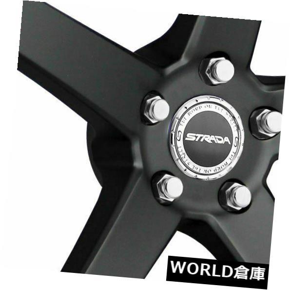 車用品 バイク用品 >> タイヤ ホイール 海外輸入ホイール 16x7 Strada S35 Perfetto Set Stealth 人気商品 35 5x114.3 Black SALENEW大人気! 5x100 Rims 4 Wheels