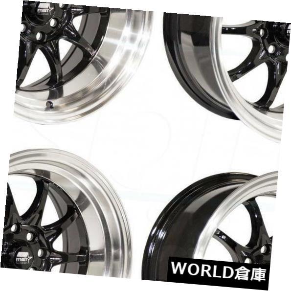 【予約中!】 海外輸入ホイール 16x8 MST MT11 5x100 Gloss/ 5x114.3 15グロスブラックホイールリムセット(4) 16x8 MT11/ MST MT11 5x100/5x114.3 15 Gloss Black Wheels Rims Set(4), ヒダシ:8b15ab7b --- mail.durand-il.com