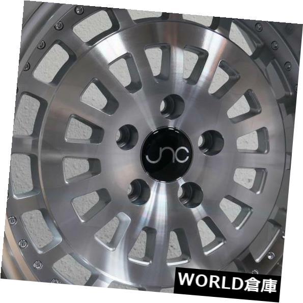 オリジナル 海外輸入ホイール Wheel 15x8/ 15x9 New JNC 046 JNC046 15x9 4x100 20/20シルバーマシンフェイスホイールNew set(4) 15x8/15x9 JNC 046 JNC046 4x100 20/20 Silver Machine Face Wheel New set(4), 激安通販!住設ショッピング:0ab5b4e9 --- lms.imergex.tech