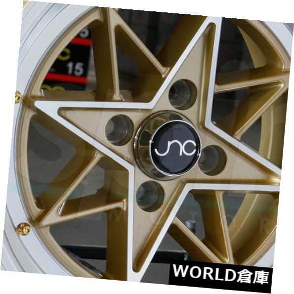 新到着 海外輸入ホイール 15x8 JNC 025 JNC025 JNC 4x100 Machine New 25ゴールドマシンフェイス。 ホイールニューセット(4) 15x8 JNC 025 JNC025 4x100 25 Gold Machine Face. Wheel New set(4), 中古ブランドリサイクル BLUE BLUE:3d580678 --- lms.imergex.tech