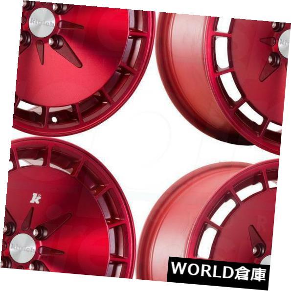 海外輸入ホイール 16x8 Klutch KM16 5x114.3 15 Fusion Redホイールリムセット 4 16x8 Klutch KM16 5x114.3 15 Fusion Red Wheels Rims Set 4