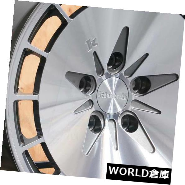 海外輸入ホイール 16x9 Klutch KM16 5x114.3 17 Gunmetal Machined Wheels Rims Set 4 16x9 Klutch KM16 5x114.3 17 Gunmetal Machined Wheels Ri