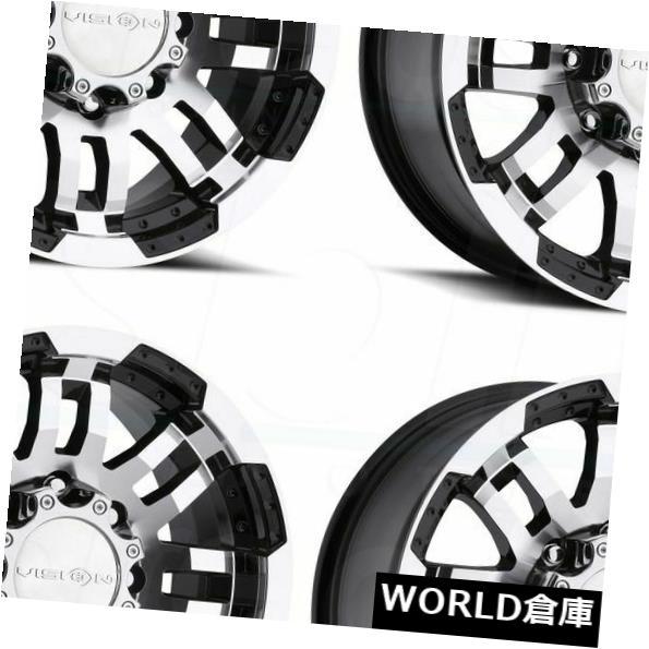 【人気No.1】 海外輸入ホイール 15x7.5 Vision 375 Warrior 5x5 / 5x127 -12ブラックマシニングホイールリムセット(4) 15x7.5 Vision 375 Warrior 5x5/5x127 -12 Black Machined Wheels Rims Set(4), 革物通販:財布バッグのサイド7 11f62287