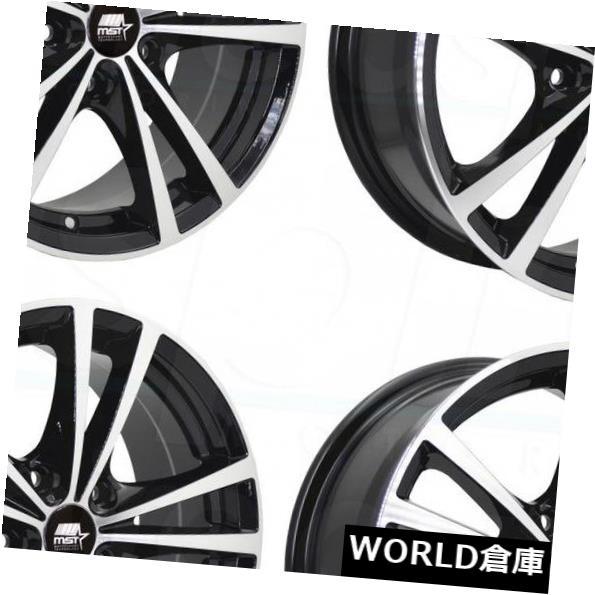絶妙なデザイン 海外輸入ホイール 17x7 MST Sabre 5x114.3 MST 45ブラックホイールリムセット(4) 17x7 Set(4) MST Saber Saber 5x114.3 45 Black Wheels Rims Set(4), 2021超人気:c4c627c0 --- rednuncamais.online