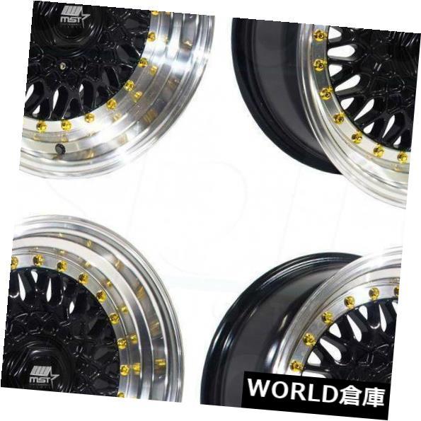 激安正規  海外輸入ホイール 15x8 MST Rivet MT13 4x100 Rims/ 4x108 20ブラックマシンリップゴールドリベットホイールリムセット(4) 15x8 4x108 MST MT13 4x100/4x108 20 Black Machine Lip Gold Rivet Wheels Rims Set(4), イカタチョウ:1cac5b8d --- ragnarok-spacevikings.pl