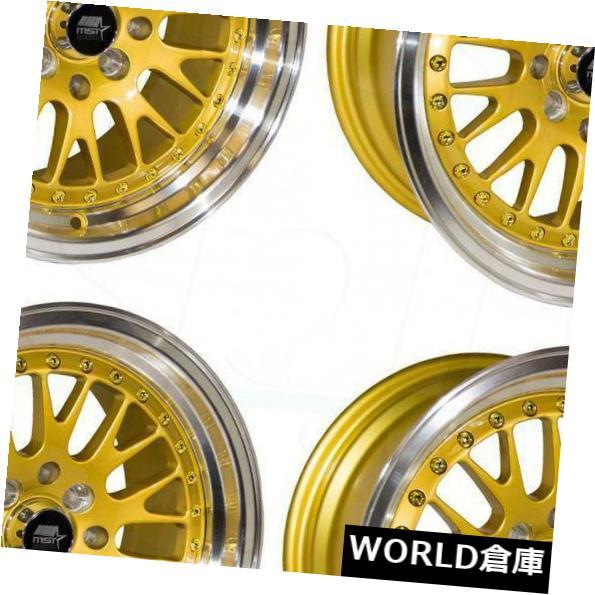 最高の品質 海外輸入ホイール MT10 15x8 25 MST MT10 4x100/ 4x114.3 25ゴールドホイールリムセット(4) 4x114.3 15x8 MST MT10 4x100/4x114.3 25 Gold Wheels Rims Set(4), 南魚沼郡:500d275d --- ragnarok-spacevikings.pl