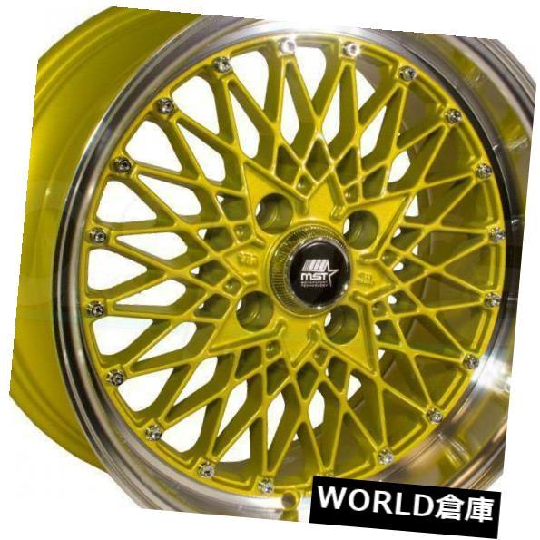 柔らかい 海外輸入ホイール 15x8 MT16 MST MT16 4x100 20ゴールドマシンリップホイールリムセット(4) 15x8 Set(4) 15x8 MST MT16 4x100 20 Gold Machine Lip Wheels Rims Set(4), 鹿児島ふるさとアイショップ店:8eb0e74e --- learningcentre.co