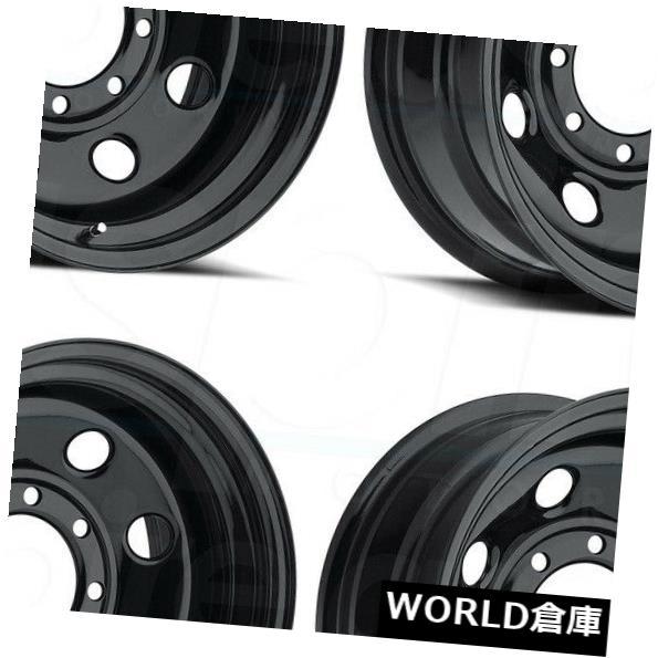 最新 海外輸入ホイール 8 15x8 HD Vision HD Soft 85 Soft 8 5x4.75 -19ブラックホイールリムセット(4) 15x8 Vision HD 85 Soft 8 5x4.75 -19 Black Wheels Rims Set(4), 値札館:f2e799e1 --- applyforvisa.online