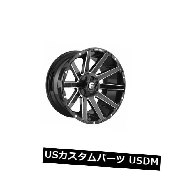 日本最大級 海外輸入ホイール 4つの22x12燃料D615コントラETのセット-44ブラックミルド8x180ホイールリム Set of 4 22x12 Fuel D615 Contra ET -44 Black Milled 8x180 Wheels Rims, こころ和む贈り物 GIFTea 1206d085