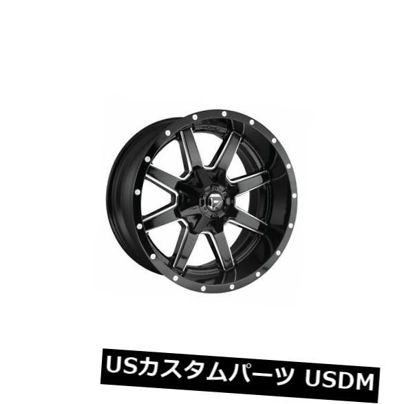 納得できる割引 海外輸入ホイール 4個の22x12燃料D610 Maverick ET -44ブラックミルド8x180ホイールリムのセット Set of 4 22x12 Fuel D610 Maverick ET -44 Black Milled 8x180 Wheels Rims, ワッサムチョウ d563ffc6