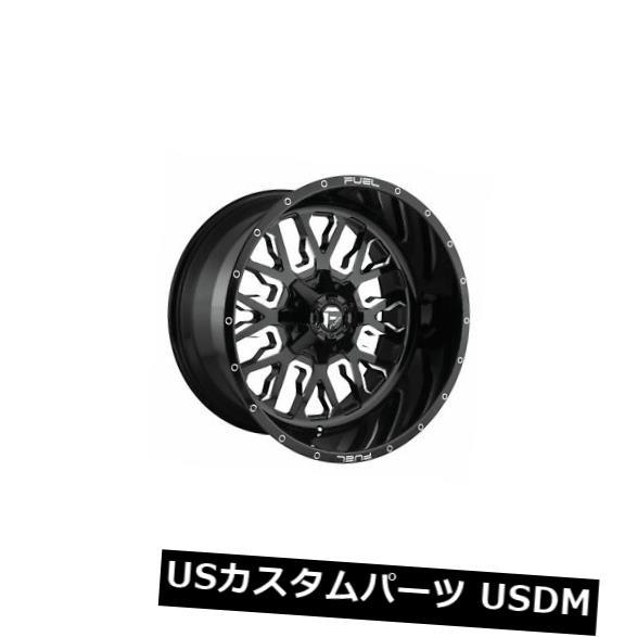 【全商品オープニング価格 特別価格】 海外輸入ホイール 4 x 22x12燃料D611ストロークET -44のセットブラックミルド6x135ホイールリム Set of 4 22x12 Fuel D611 Stroke ET -44 Black Milled 6x135 Wheels Rims, ヤマテソン 67ee1201