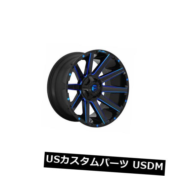 国産品 海外輸入ホイール 4個の22x12燃料D644 4個の22x12燃料D644 Contra ETのセット-44ブラックブルー8x170ホイールリム Set Fuel Blue of 4 22x12 Fuel D644 Contra ET -44 Black Blue 8x170 Wheels Rims, アサシナムラ:371d9486 --- dibranet.com