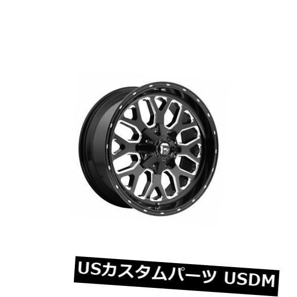 【通販 人気】 海外輸入ホイール 4 x x 22x10燃料D588 Titan 8x170 ET Wheels -18ブラックミルド8x170ホイールリムのセット Set of 4 22x10 Fuel D588 Titan ET -18 Black Milled 8x170 Wheels Rims, ヨウカイチシ:38c48448 --- beautyflurry.com