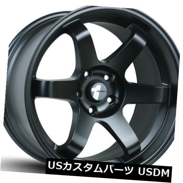 最高級 海外輸入ホイール 17x8 Wheels F/ 4) 17x9 R AV06リム5x114.3 Avid.1 AV06リム5x114.3 +35/42ブラックホイール(4個セット) 17x8 F/ 17x9 R Avid.1 AV06 Rims 5x114.3 +35/42 Black Wheels (Set of 4), aone store:7d5de471 --- sap-latam.com