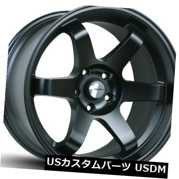 【在庫処分大特価!!】 海外輸入ホイール 17x8 F/ 17x9 AV06 R Avid.1 4) AV06リム5x114.3/ +35/42ブラックホイール(4個セット) 17x8 F/ 17x9 R Avid.1 AV06 Rims 5x114.3 +35/42 Black Wheels (Set of 4), 【外部サイト】MUJI net store:a6f1fd39 --- sap-latam.com
