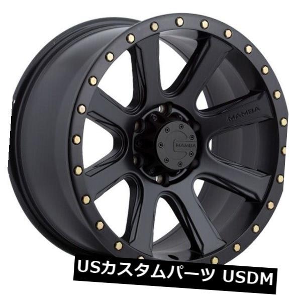 海外輸入ホイール 20x9 MAMBA M16 6x139.7 et12マットブラックホイール(4個セット) 20x9 MAMBA M16 6x139.7 et12 Matte Black Wheels (Set of 4)