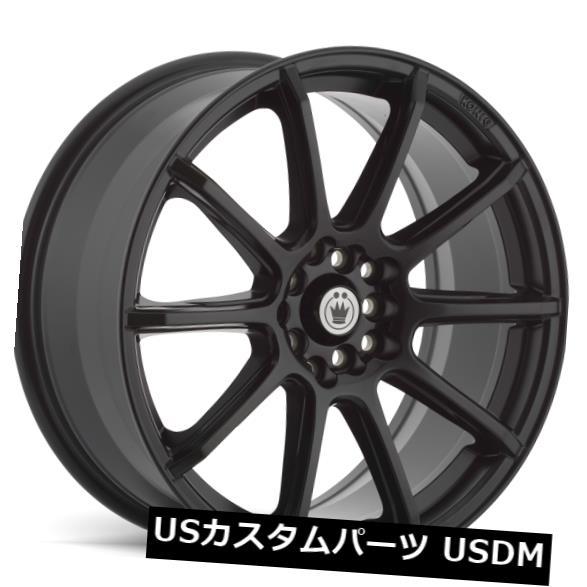 車用品 バイク用品 送料無料限定セール中 >> 交換無料 タイヤ ホイール 海外輸入ホイール 16x7 KONIG CONTROL 4X100 +40 4個セット MATTE of +40マットブラックホイール BLACK 108 4 Wheels Set