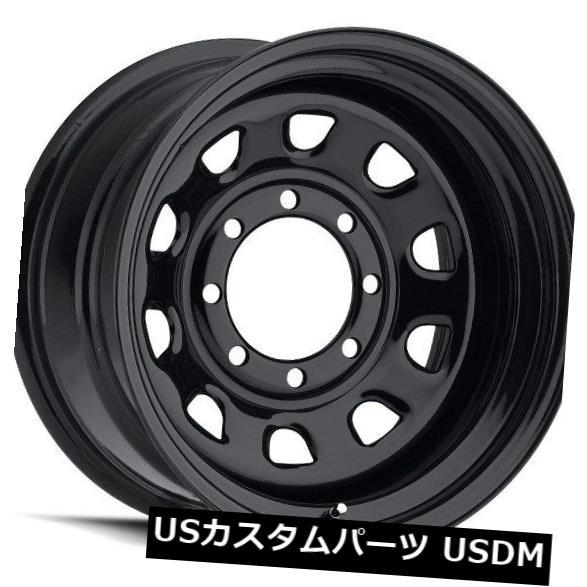 <title>車用品 バイク用品 >> タイヤ ホイール 海外輸入ホイール 15X7 Vision 84 6x139.7 ET-6ブラックホイール 4個セット ET-6 Black 中古 Wheels Set of 4</title>