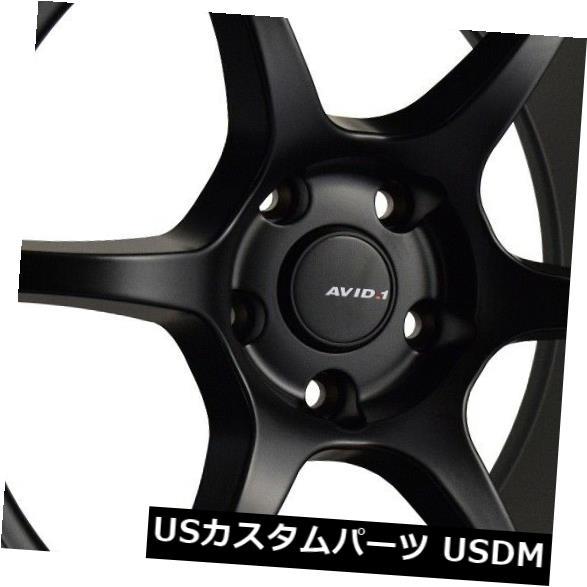 海外輸入ホイール 18x8.5 9.5 Avid.1 AV26 5x114.3 35 38マットブラックホイール 4個セット 18x8.5 9.5 Avid.1 AV26 5x114.3 35 38 Matte Black Wheels Set of 4