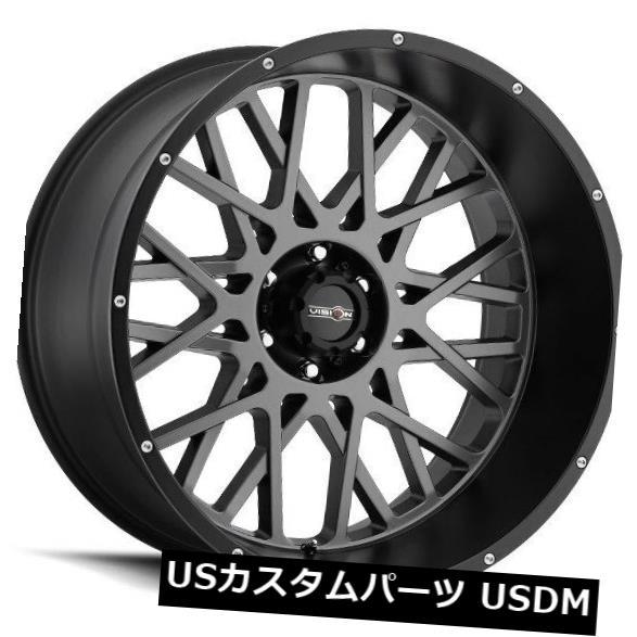 海外輸入ホイール 18X9 Vision 412 Rocker 5x139.7 ET12無煙炭ホイール(4個セット)  18X9 Vision 412 Rocker 5x139.7 ET12 Anthracite Wheels (Set of 4):WORLD倉庫 店