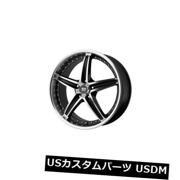 海外輸入ホイール 18x8 MOTEGI MR107 5x112 ET42ブラックマシニングホイール(4個セット) 18x8 MOTEGI MR107 5x112 ET42 Black Machined Wheels (Set of 4)