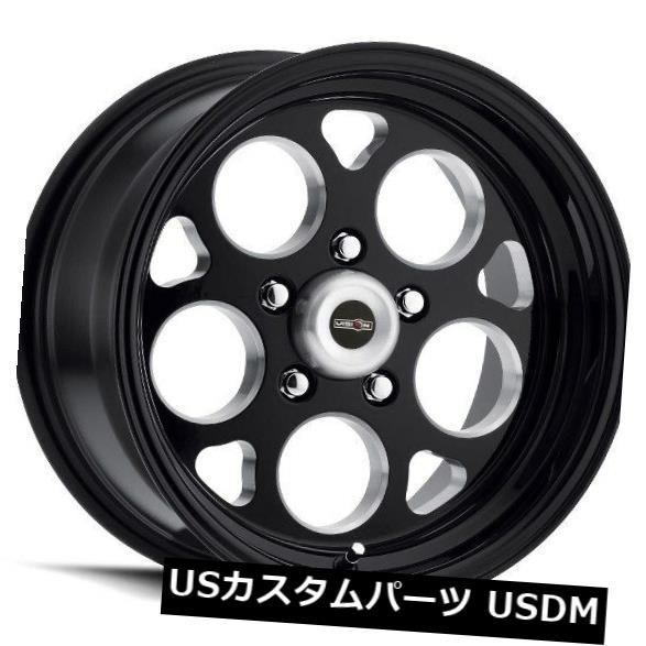 海外輸入ホイール 15X4 Vision 561 Sport Mag 5x114.3 ET-19ブラックホイール(4個セット) 15X4 Vision 561 Sport Mag 5x114.3 ET-19 Black Wheels (Set of 4)