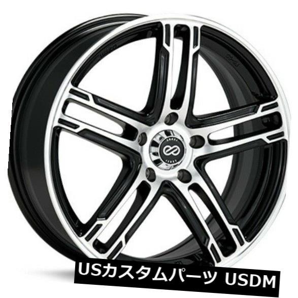 車用品 バイク用品 >> ブランド買うならブランドオフ タイヤ ホイール 海外輸入ホイール 15x7 Enkei FD-05 5X114.3 Wheels Set 4個セット Machined +38 NEW 4 of Black +38ブラックマシニングホイール