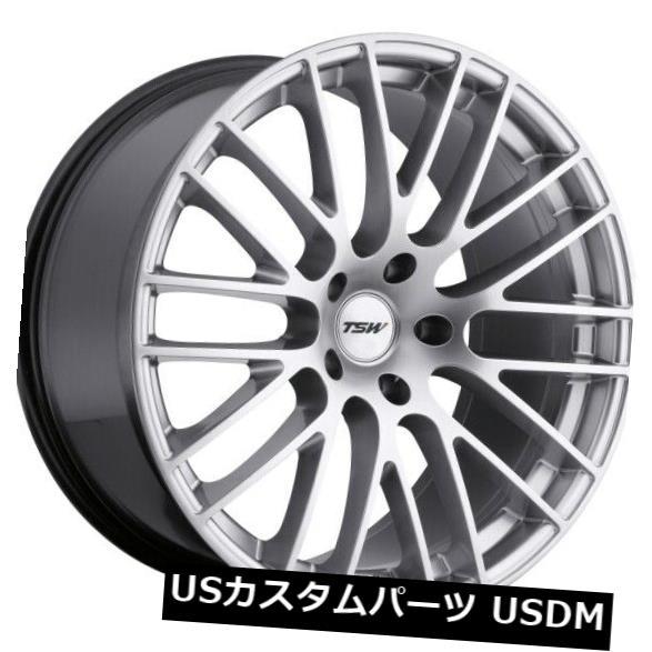 海外輸入ホイール 18x9.5 TSW最大5x120リム+45ハイパーシルバーホイール(4個セット) 18x9.5 TSW Max 5x120 Rims +45 Hyper Silver Wheels (Set of 4)