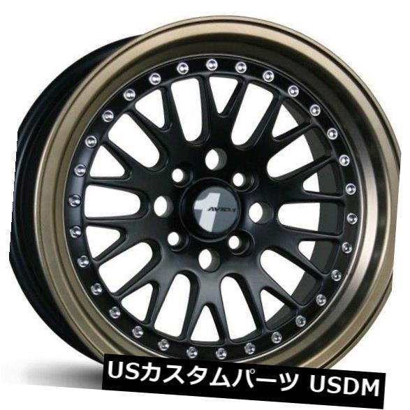 買い保障できる 海外輸入ホイール 4) Avid1 AV12 15X8リム4x100 Avid1 +25ブラックホイール(4個セット) of Avid1 AV12 15X8 Rims 4x100 +25 Black Wheels (Set of 4), ヒガシセフリソン:76de455b --- vlogica.com