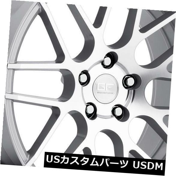 海外輸入ホイール Ground Force GF7 18x8 / 18x9 5x120カスタムシルバーホイール(4個セット) Ground Force GF7 18x8/18x9 5x120 Custom Silver Wheels (set of 4)