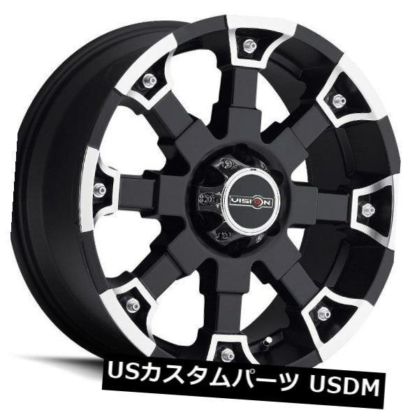海外輸入ホイール 20X9 Vision 392 Brutal 8x165.1 ET18 Matte Black Machined Face Wheels(4個セット) 20X9 Vision 392 Brutal 8x165.1 ET18 Matte Black Machined Face Wheels (Set of 4)