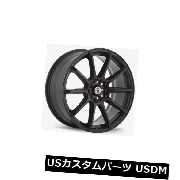 車用品 バイク用品 >> タイヤ 卸直営 ホイール 海外輸入ホイール 16x7 KONIG CONTROL 5X110 of お見舞い BLACK 4個セット +40 4 MATTE Set Wheels 115 +40マットブラックホイール