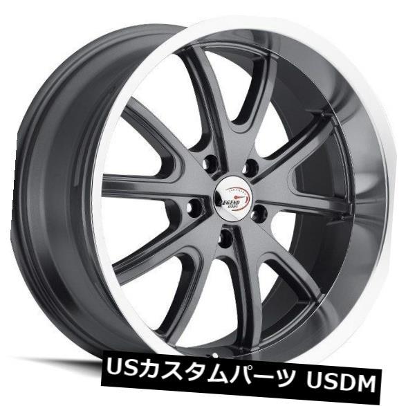 【10%OFF】 海外輸入ホイール 15X8 Vision of 143 TORQUE Wheels 5x127 Machined ET-19 Gunmetal Machined Lip Wheels(4個セット) 15X8 Vision 143 TORQUE 5x127 ET-19 Gunmetal Machined Lip Wheels (Set of 4), LIMITED EDT:f1dbb45b --- mail.durand-il.com