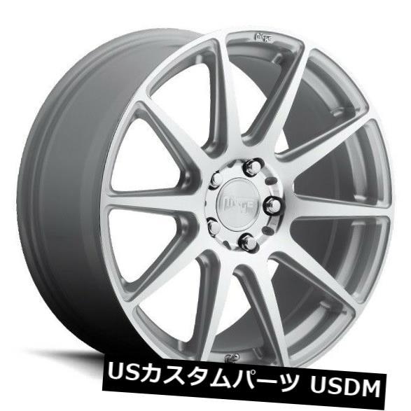 海外輸入ホイール 18x8 NICHE ESSEN M146 5x4.5 +40シルバーマシンホイール(4個セット) 18x8 NICHE ESSEN M146 5x4.5 +40 Silver Machine Wheels (Set of 4)