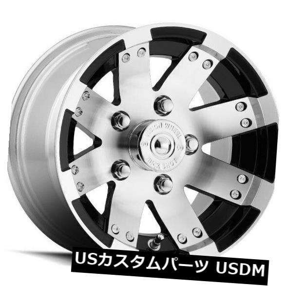 【一部予約!】 海外輸入ホイール 12X8 Vision 158 Buckshot of 4x110 ET-10.2ブラックマシニングホイール(4個セット) 12X8 ET-10.2 Vision (Set 158 Buckshot 4x110 ET-10.2 Black Machined Wheels (Set of 4), カシダス:ed414641 --- valeyres-promotions.ch