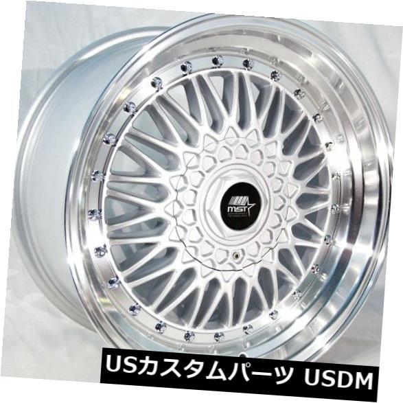 人気 海外輸入ホイール of 15x8 MST MST MT13 4x100// 4x114.3 ET20シルバー、機械加工リップホイール付き(4個セット) 15x8 MST MT13 4x100/4x114.3 ET20 Silver w/Machined Lip Wheels (Set of 4), ハクスイムラ:3212e0a9 --- vlogica.com