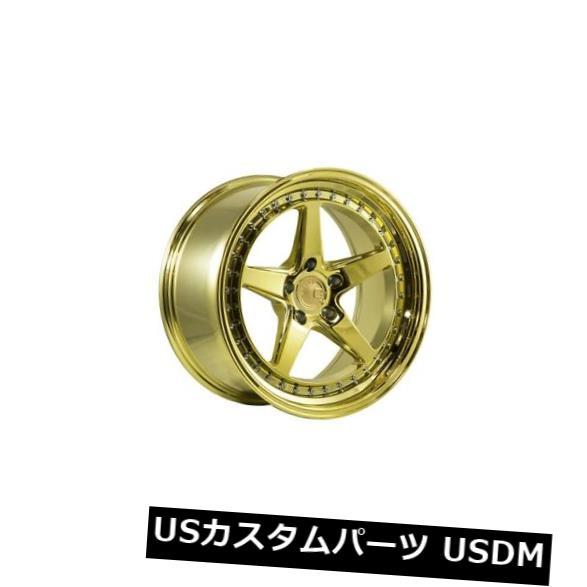 海外輸入ホイール 18x9.5 AodHan DS05 5x114.3 +15ゴールドバキュームホイール(4個セット) 18x9.5 AodHan DS05 5x114.3 +15 Gold Vacuum Wheels (Set of 4)