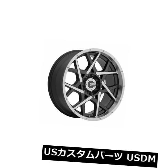 海外輸入ホイール 17x9 Mamba M20 5x139.7 ET 18グロスブラックWITH /マシニングホイール(4個セット) 17x9 Mamba M20 5x139.7 ET18 Gloss Black W/ Machined Wheels (Set of 4)
