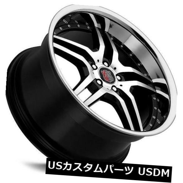 海外輸入ホイール 18x8 MRR RW2 5x112 +32バッククロームリップホイール付き(4) 18x8 MRR RW2 5x112 +32 Back w/ Chrome Lip Wheels New Set of (4)