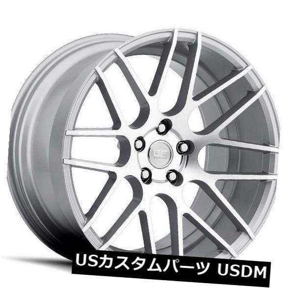 海外輸入ホイール 18x8 MRR GF7 5x108 +35シルバーホイール(4個セット) 18x8 MRR GF7 5x108 +35 Silver Wheels (Set of 4)