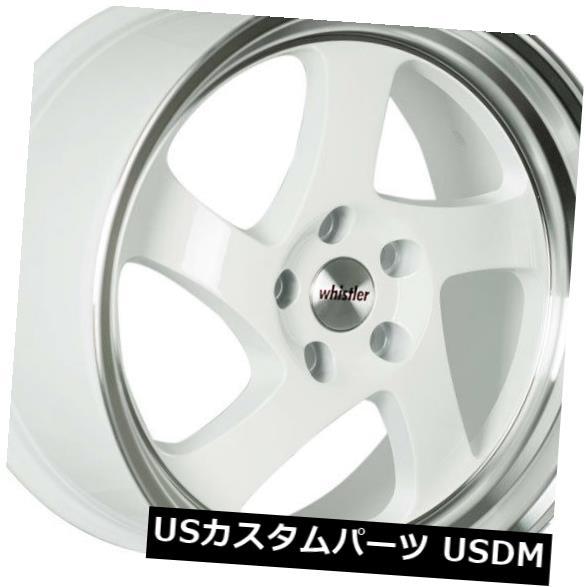 男女兼用 海外輸入ホイール 18x9.5ウィスラーKR1 5x114.3 +35ホワイト/マシニングリップホイール(4個セット) 18x9.5 Whistler KR1 4) Whistler KR1 5x114.3 +35 White/Machined Lip Wheels (Set of 4), 愛車名人倶楽部:ad2408aa --- acumenff.com